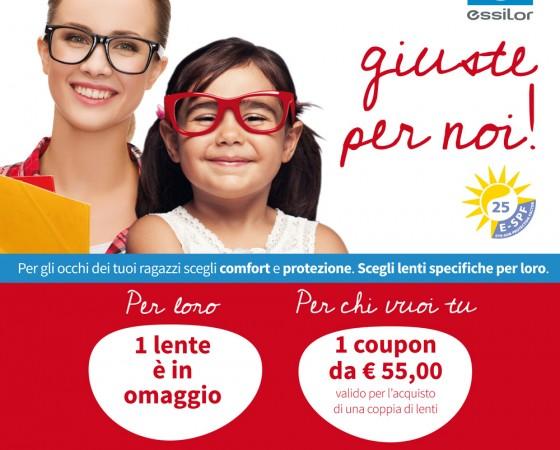 Da Essilor una promozione occhiali per bambini