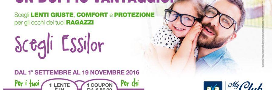 Inizia la scuola: promozione occhiali per bambini
